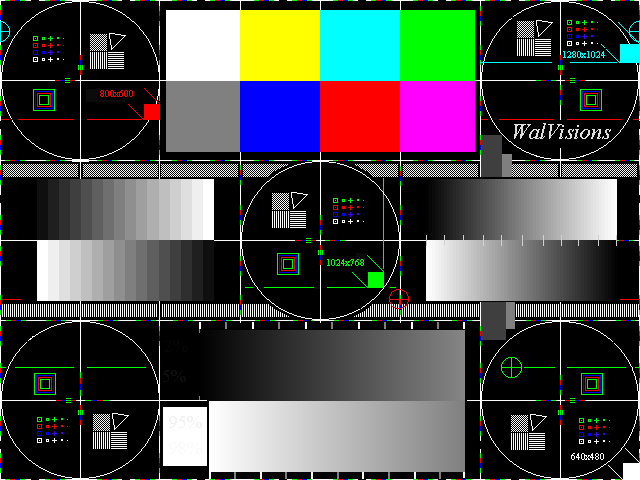 WalVisions - Full Field Test Patterns